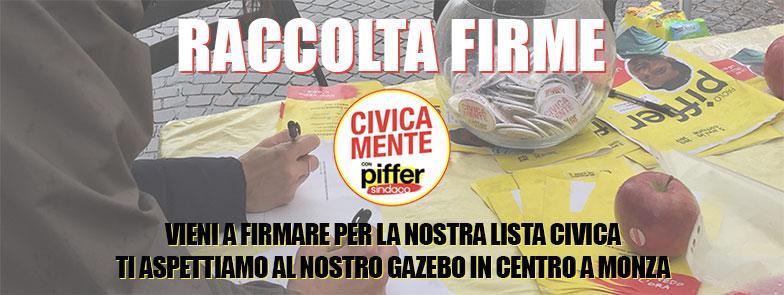 Raccolta Firme - CIVICAMENTE con Piffer Sindaco